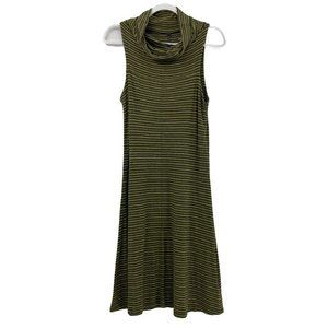 Horny Toad Sleeveless Cowlneck Sheath Dress Stripe